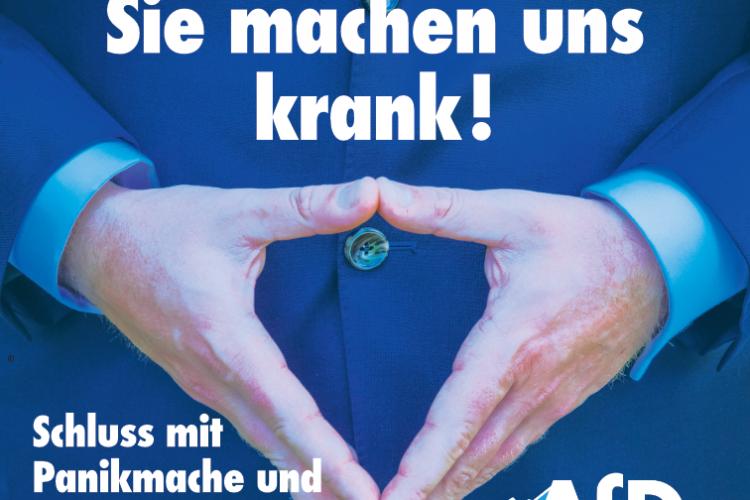 Frau Merkel, sie machen uns krank.